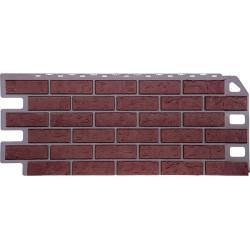Фасадная панель FineBer Кирпич Красный
