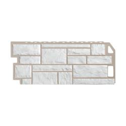 Фасадная панель FineBer Камень Мелованный белый 1130х470 мм