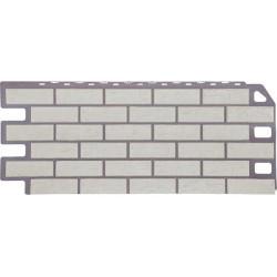 Фасадная панель FineBer Кирпич Мелованный белый
