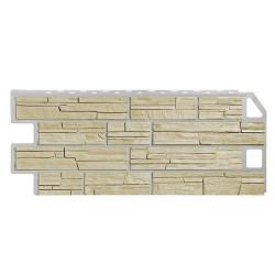 Фасадная панель FineBer Сланец Песочный 1130х470 мм