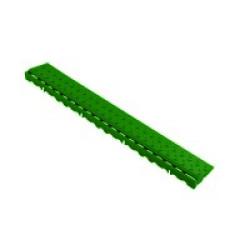 Боковой элемент обрамления с пазами под замки Альта-Профиль Зеленый