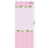 Стеновая панель ПВХ Кронапласт Unique Яблоневый цвет Розовый фон 2700х250 мм