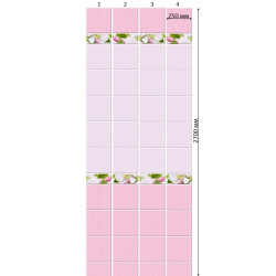 Стеновая панель ПВХ Кронапласт Unique Яблоневый цвет Розовый фон 2700х250 мм 3D Дизайн