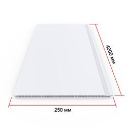 Панель ПВХ Кронапласт Белая матовая 4000х250х8 мм