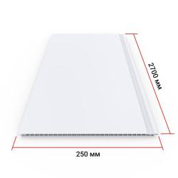 Панель ПВХ Кронапласт Белая матовая 2700х250х8 мм