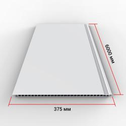 Панель ПВХ Век Белая матовая 6000х370х9 мм