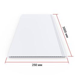 Панель ПВХ Кронапласт Белая матовая 3000х250х8 мм