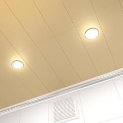Потолок реечный Cesal 010B Золотистый жемчуг 100х4000 мм