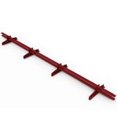 Снегозадержатель трубчатый овальный RAL 3005 Винно-красный 3 м
