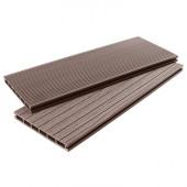 Террасная доска из ДПК Prodpk Шоколад 4000х200х22 мм
