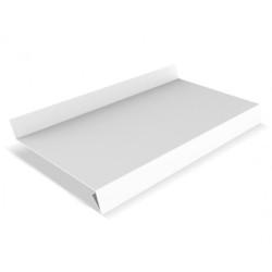 Отлив оконный металлический Белый 100х3000 мм