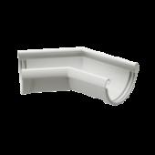 Угловой элемент 135° DOCKE LUX цвет Белый