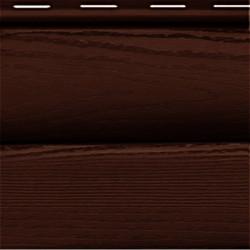 Сайдинг виниловый FineBer «BlockHouse» ExtraColor Темный дуб